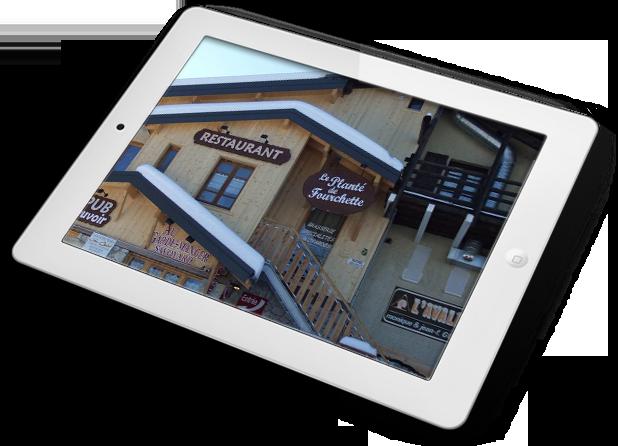 Ecran visuel façade restaurant