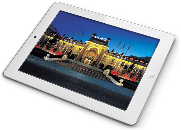 Tablette ecran visuel casino